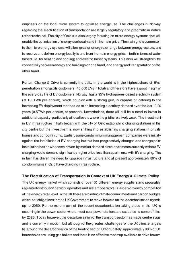 emphasis on the local micro system to optimise energy use. The challenges in Norway regarding the electrification of trans...