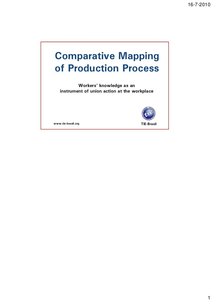 16-7-2010Comparative Mappingof Production Process            Workers' knowledge as an    instrument of union action at the...