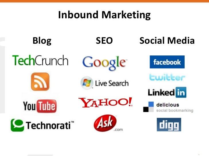 Inbound Marketing  Blog         SEO     Social Media