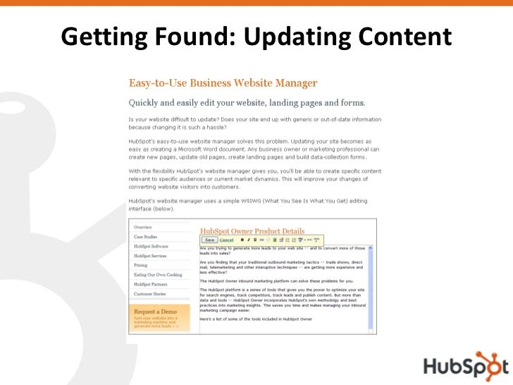 Getting Found: Updating Content