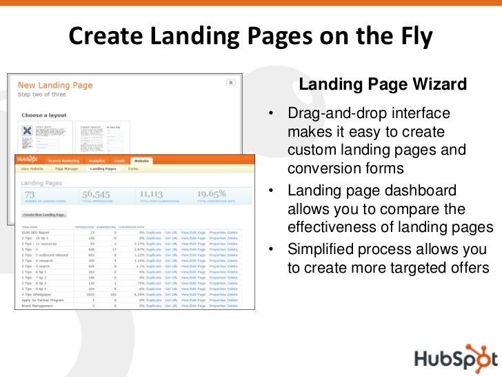 Create Landing Pages on the Fly                     Landing Page Wizard                 • Drag-and-drop interface         ...