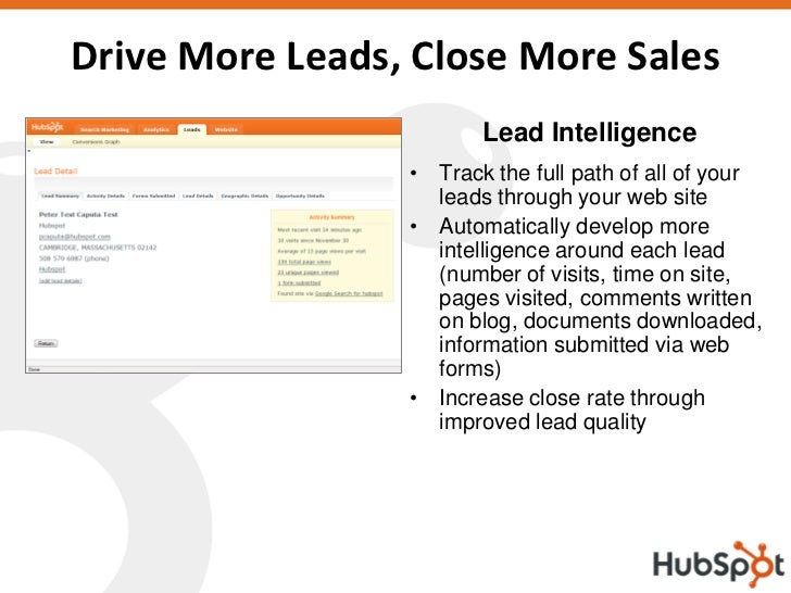 Drive More Leads, Close More Sales                         Lead Intelligence                  • Track the full path of all...