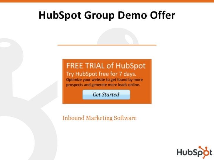 HubSpot Group Demo Offer