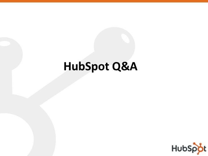 HubSpot Q&A
