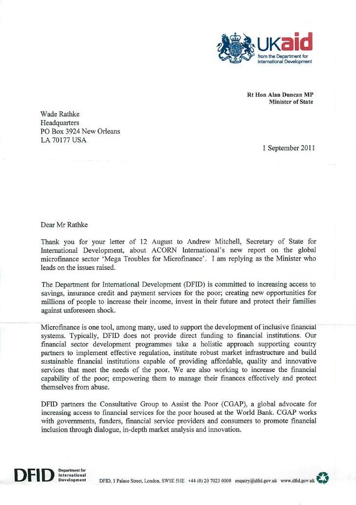 UK Aid Response