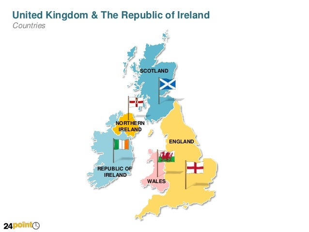 Zoom In Map Of Uk.United Kingdom Uk And Ireland Map Powerpoint