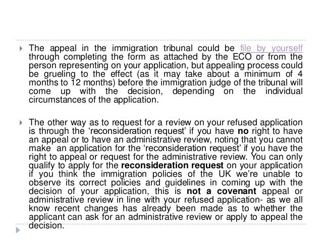 Uk Appeal Review Reconsideration Request Of Refused Application