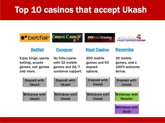 ukash casinos