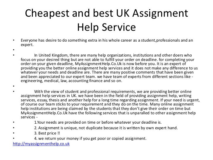 Online assignment help uk