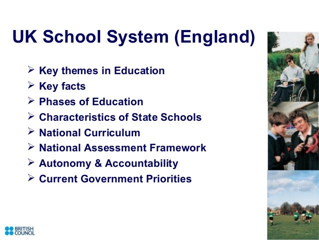 UK School System (England)    Key themes in Education    Key facts    Phases of Education    Characteristics of State ...