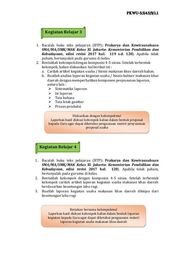 Ukbm Prakarya 3 5 Laporan Khas Daerah 1