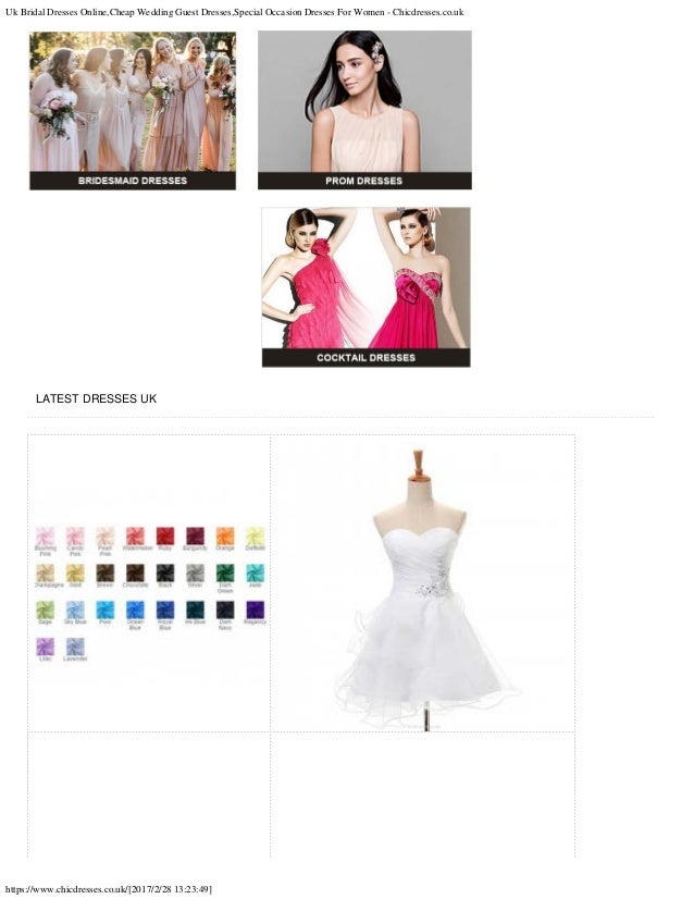 Uk bridal dresses online cheap wedding guest dresses for Cheap wedding guest dresses