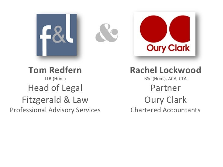 Tom Redfern                Rachel Lockwood           LLB (Hons)                BSc (Hons), ACA, CTA     Head of Legal     ...