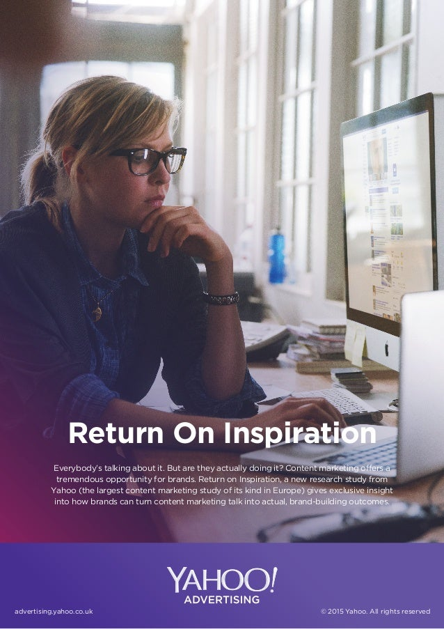 Return On Inspiration Everybody's talking about it. But are they actually doing it? Content marketing offers a tremendous ...