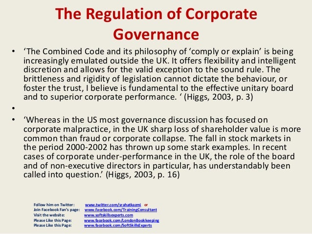 corporate governance in uk Contents pages the uk corporate governance code governance and the code 1 preface 2-3 comply or explain 4-5 the main principles of the code 6.