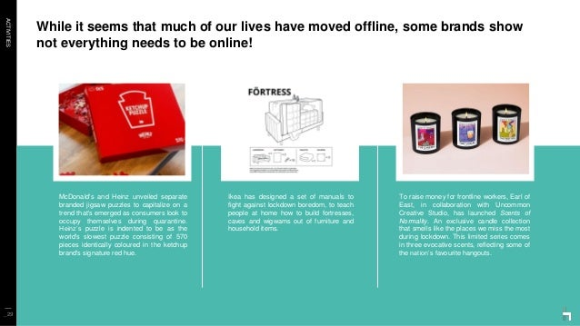 ACTIVITIES While it seems that much of our lives have moved offline, some brands show not everything needs to be online! _...