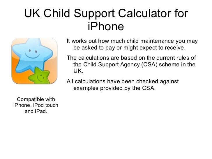 Uk child support calculator for iphone.