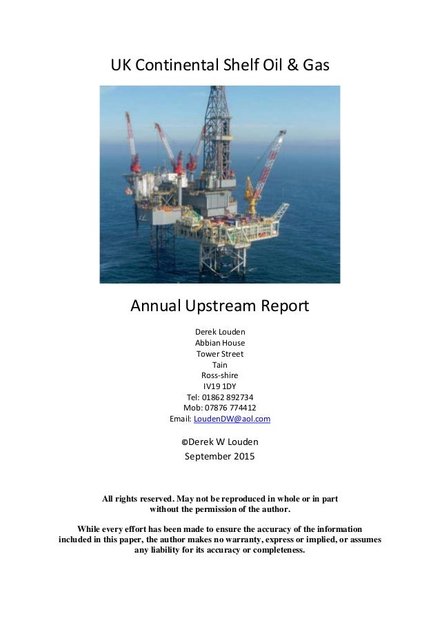 UKCS Upstream Oil & Gas 2015 Edition
