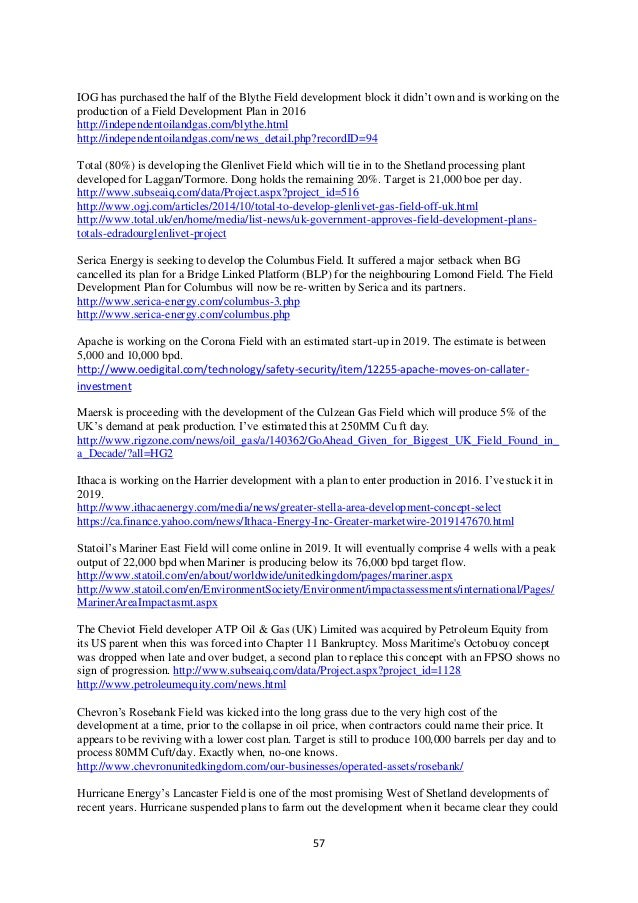 UKCS Upstream Oil & Gas Report 2016 Edition