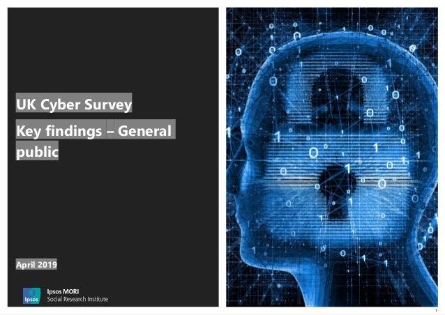 1 UK Cyber Survey Key findings – General public April 2019
