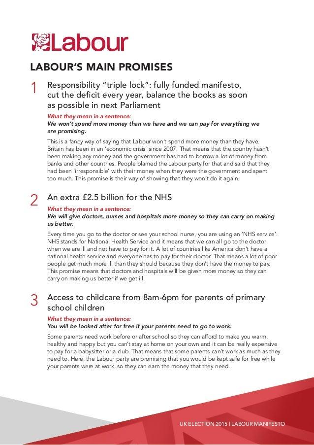 Uk political manifesto essay