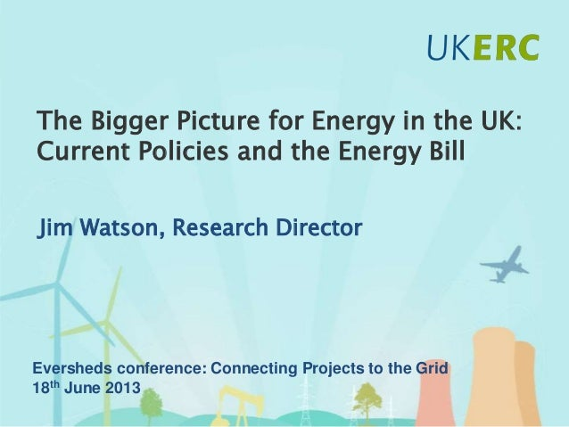 Click to add title The Bigger Picture for Energy in the UK: Current Policies and the Energy Bill Jim Watson, Research Dire...