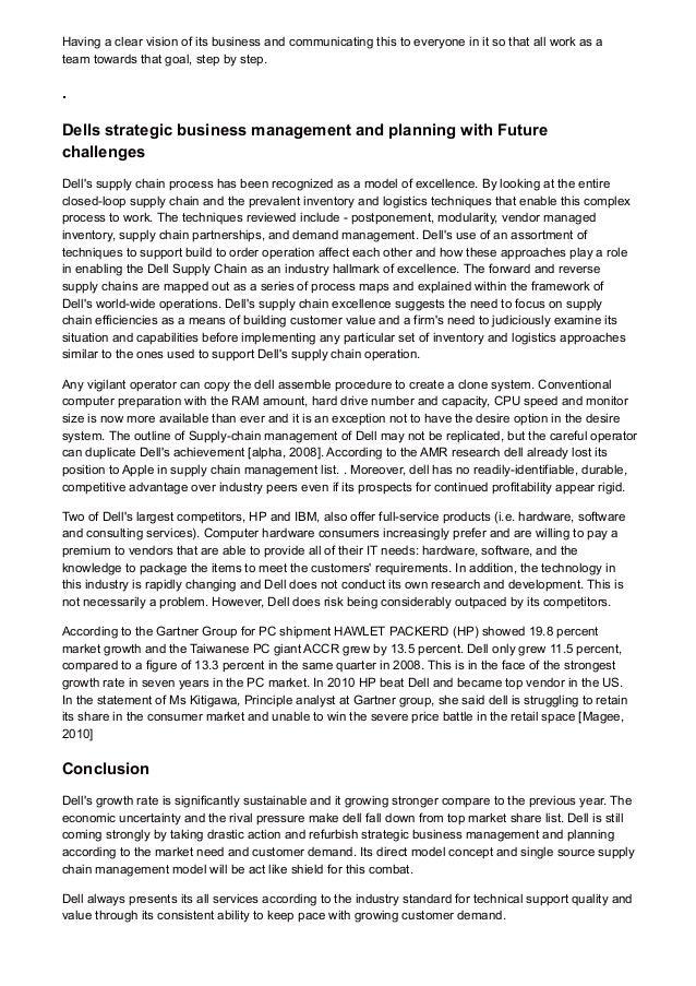 essays for business management