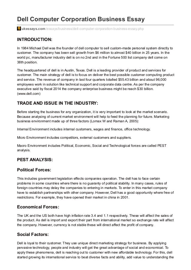 Essay of market environment
