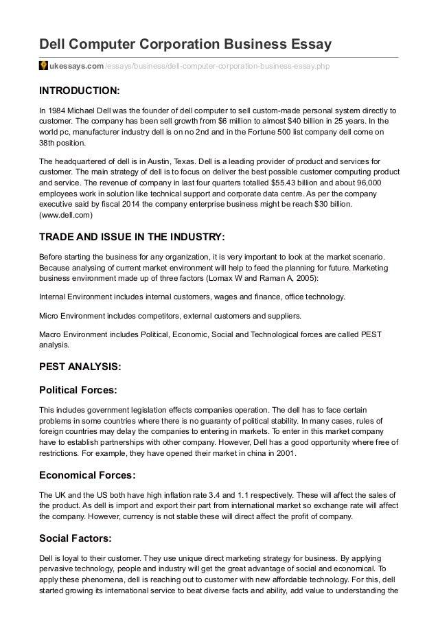 three business environments essay