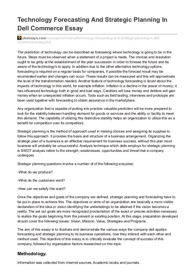 strategic planning essay pdf