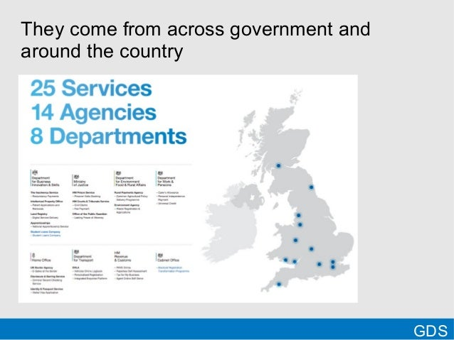 GDSThey come from across government andaround the country