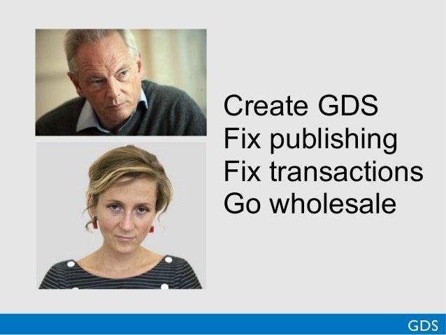 Create GDSFix publishingFix transactionsGo wholesaleGDS