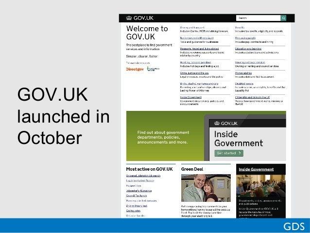 GOV.UKlaunched inOctoberGDS