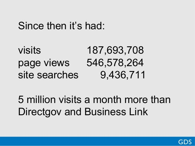 Since then it's had:visits 187,693,708page views 546,578,264site searches 9,436,7115 million visits a month more thanDirec...