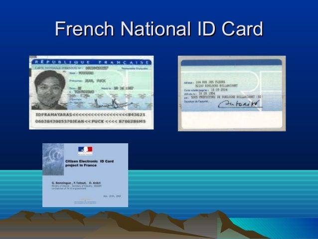 Uk french national id card presentation
