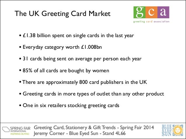 trend insights uk greeting card, stationery and gift markets, Greeting card