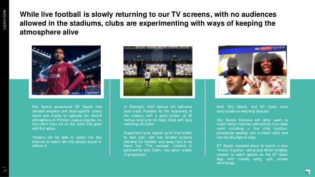 NEEDSTATES While live football is slowly returning to our TV screens, with no audiences allowed in the stadiums, clubs are...