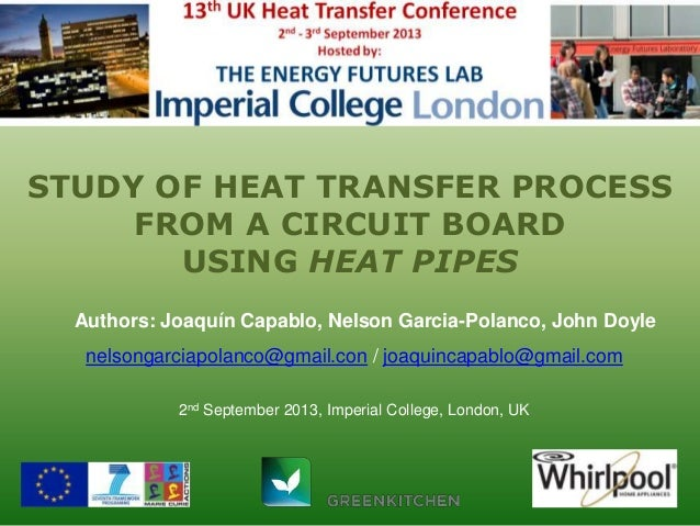 Study of Heat Transfer Process using Heat Pipes