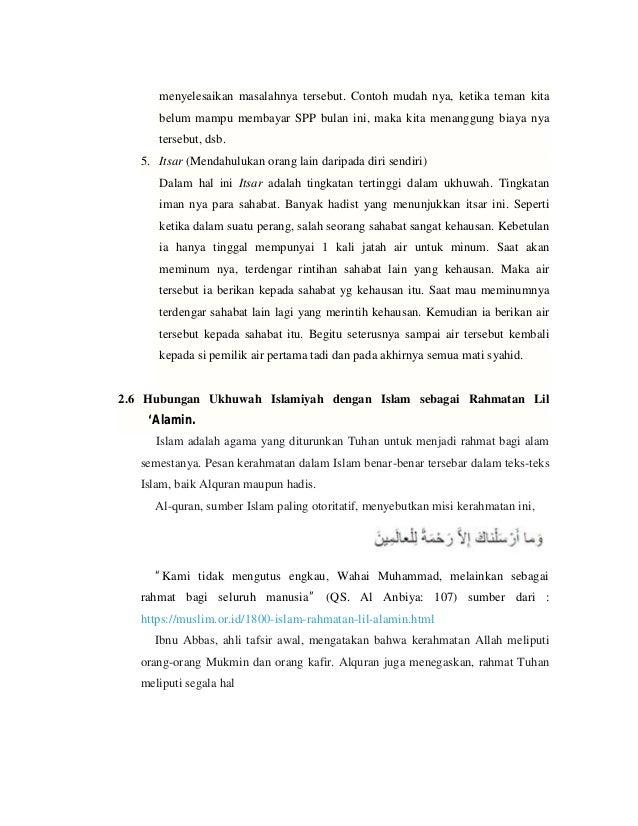 Ukhuwah Islam 1 Persaudaraan Muslim Dan Sesama Manusia
