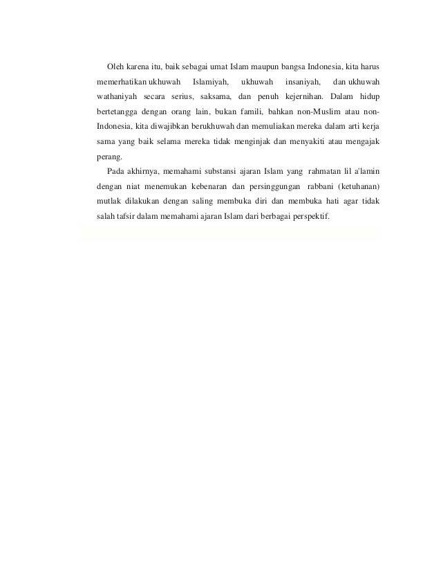 Ukhuwah islam 1(persaudaraan muslim dan sesama manusia)