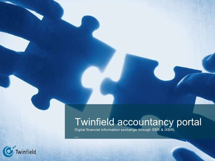 Twinfield accountant's portal Digital financial information exchange via (i)XBRL v1.1