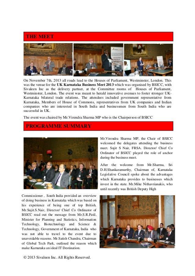 UK Karnataka Business Meet 2013 Slide 2