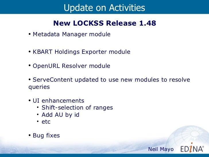 UKLA Update On Activities Slide 3