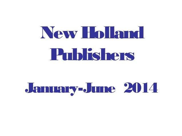 New Holland Publishers January-June 2014