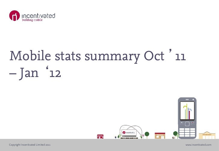 Mobile stats summary Oct 11– Jan 12Copyright Incentivated Limited 2011   www.incentivated.com