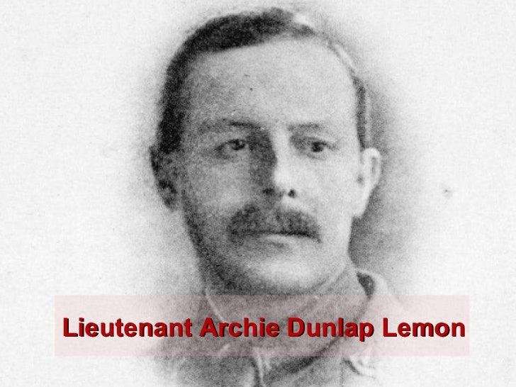 Lieutenant Archie Dunlap Lemon