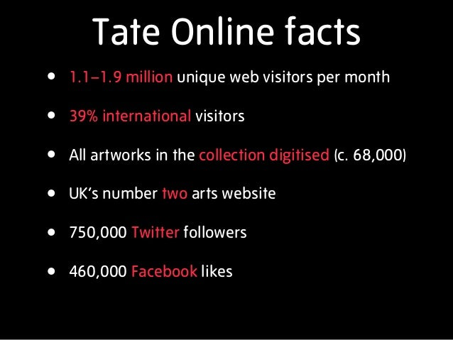 Tate Digital Strategy: UK Museums and the Web 2012 Slide 2