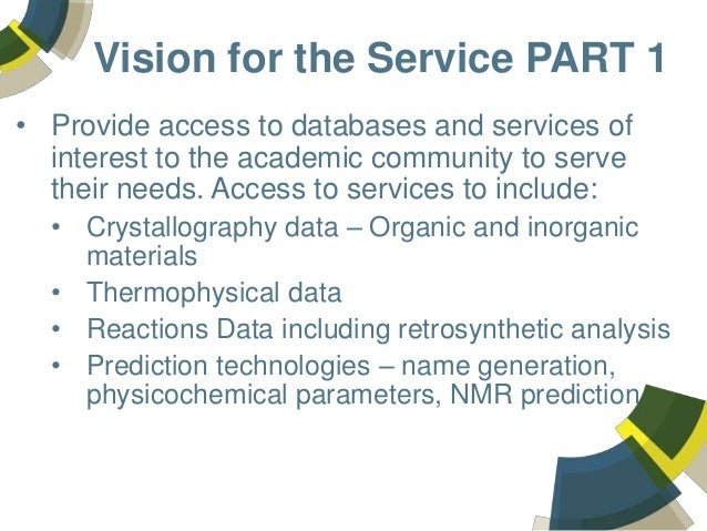 The UK National Chemical Database Service – an integration of commercial and public chemistry services to support chemists in the United Kingdom Slide 3