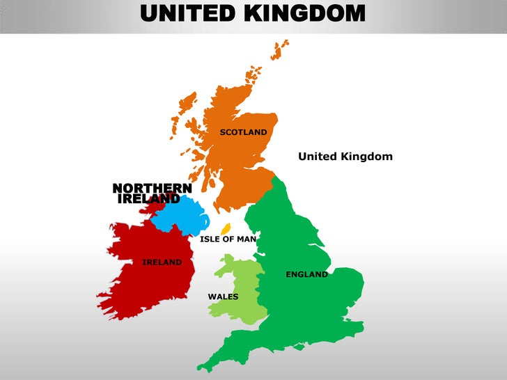 Uk northern ireland country editable powerpoint maps with states and …