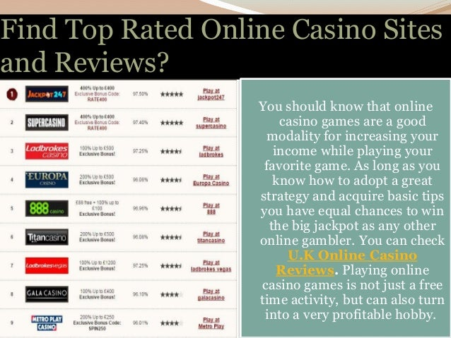 best online casinos reviews